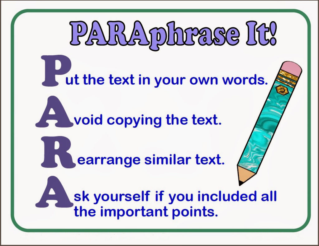 the art of paraphrasing